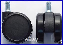 1 Lot 20 Pcs Herman Miller Aeron Chair Hardwood Casters Wheels 2.5 #cs-65