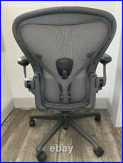 (2019) Herman Miller Aeron Remastered Chair Size B Fully Loaded With Posture Fit