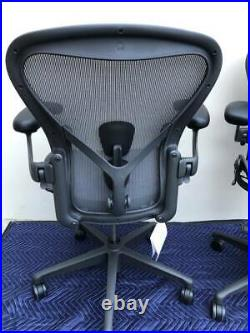 (2020) Herman Miller Aeron Remastered Chair Size B Fully Loaded With Posture Fit