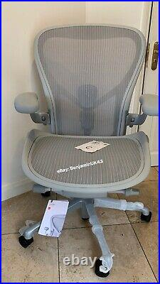 2021 Herman Miller Aeron Remastered Chair Size C Fully Loaded Mineral Grey
