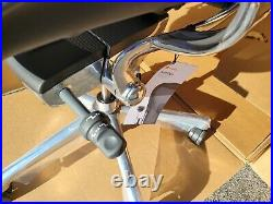 2021 New Herman Miller Aeron Remastered Polished Aluminum Leather Arms Chair