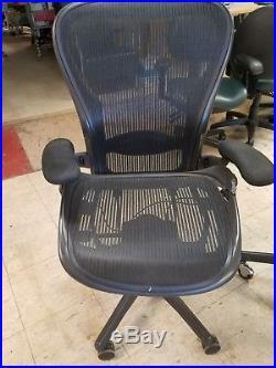 2 Herman Miller Aeron Office Chair Size C Lumbar, Broken Seat Pans