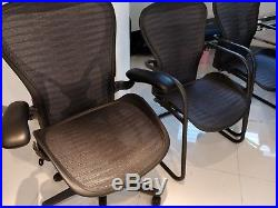 3 herman miller chairs set incl size c fully adjustable leather arms AERON