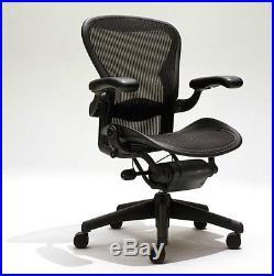 5 Herman Miller Size B Aeron Chairs With Lumbar