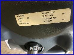 (5) herman miller aeron chairs as is office adjustable