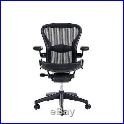 AUTHENTIC Aeron Chair Size A (Lumbar Support) Black Classic DWR Herman Miller