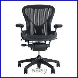 AUTHENTIC Aeron Chair Size A (POSTURE FIT) Black Classic DWR Herman Miller