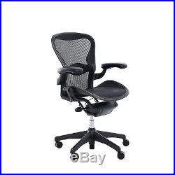 Aeron Chair Size A (LUMBAR SUPPORT) Black Classic OPEN BOX DWR Herman Miller
