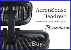 Authentic AeronHQ Headrest for Herman Miller Aeron Chair + Free Coat Hanger