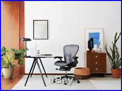 BRAND NEW Herman Miller Size C Aeron Chair Graphite Color PERFECT CONDITION