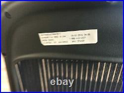 Blue Herman Miller Aeron Office Desk Chair Lumbar Support Showroom + Warranty