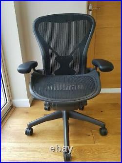 Brand New Size C Herman Miller Aeron Chair Black Fully Loaded inc Posturefit
