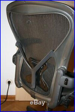 Bürostuhl Bürosessel Vitra Herman Miller Aeron B Posture Fit Rückenstütze