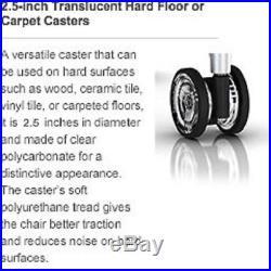 Clear Hard Floor Casters Set 5 Wheels Herman Miller Aeron Chair Quiet Rolling