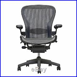 Details about Herman Miller Aeron Chair Open Box Size B Fully Loaded hardwood