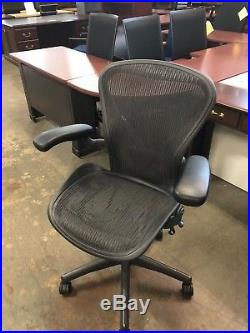 EXECUTIVE CHAIR by HERMAN MILLER AERON SIZE B FULLY LOADED