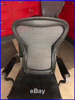 GRAY Mesh Herman Miller Aeron Back Rest Size B Graphite Frame