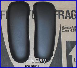 Genuine OEM Herman Miller Aeron Chair Leather Armrest Covers Pair Arm Cushions