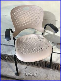 Grey Herman Miller Caper Stacking Office Chair Aeron Seat Beige Tan PERFECT