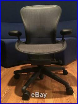 HERMAN MILLER AERON CHAIR SIZE B FULLY ADJUSTABLE with LUMBAR SUPPORT