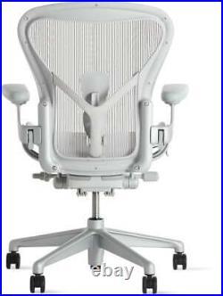 HERMAN MILLER AERON CHAIR WHITE Size B