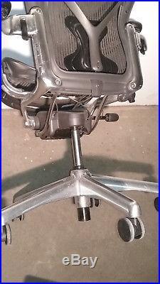 HERMAN MILLER AERON Polished Aluminum Base & Posture FIT SIZE B For Refurbishing