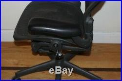 HERMAN MILLER AERON fully adjustable SIZE B BLACK. Aeron Chair office Eams