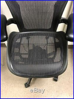 HERMAN MILLER AERON fully adjustable SIZE C Large. Dark Purple Aeron Chair
