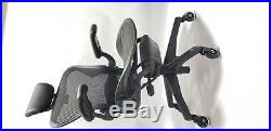 Herman Miller AERON Chair Fully Adjustable Size B Headrest & Soft Casters