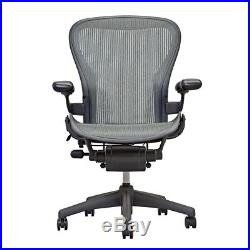 Herman Miller AERON Chair In Gray Basic Model Size B Perfect for Conference Room