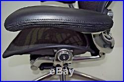Herman Miller AERON EXECUTIVE SIZE B carbon wave BLACK Fully Adjustable POSTURE