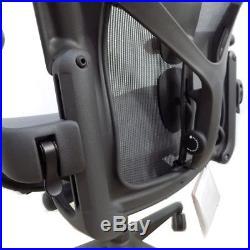 Herman Miller Aeron AER1C22DWALPG1G1G1BBBK23103 Size C Graphite Office Chair