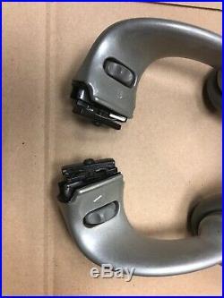 Herman Miller Aeron Adjustable Arm Rests with Pads LH & RH Gray Color Aeron Part