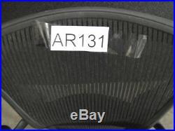 ^^ Herman Miller Aeron Adjustable Black Medium Parts/repair (ar131)