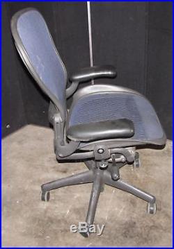 ^^ Herman Miller Aeron Adjustable Blue Large Chair Parts/repair (ar100)