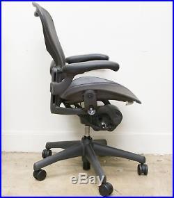 Herman Miller Aeron B Chair Fully Loaded Carbon Black 2011 AE113AWBAJ