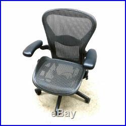 Herman Miller Aeron Black Adjustable Office Chair 16-20.5 Seat H Foam Backing