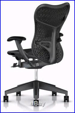 Herman Miller (Aeron) Black Mesh Mirra 2 Chair with Lumbar Support