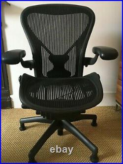 Herman Miller Aeron Black Office Chair Size B Fantastic condition