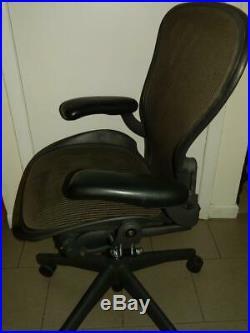 Herman Miller Aeron Brown Mesh Office Desk Chair Medium Sz B Fully Adjustable