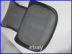Herman Miller Aeron Chair BACK & SEAT Graphite Frame with Grey Mesh SIZE C