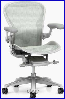 Herman Miller Aeron Chair Color Mineral/Satin Aluminum Size C Large