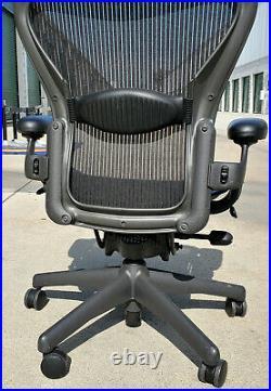 Herman Miller Aeron Chair Fully Adjustable Lumbar Support- Size B Very Good
