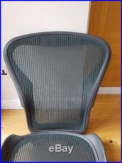 Herman Miller Aeron Chair Green Mesh in Size B Seat Pan and Back Set