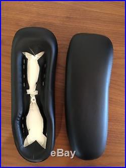 Herman Miller Aeron Chair Leather Arm Pads Brand New Original Item Black Pair
