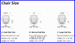 Herman Miller Aeron Chair Reinforced SEAT Graphite C Large Parts NEW #00C2