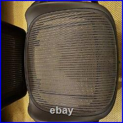 Herman Miller Aeron Chair Reinforced SEAT Graphite Size B Med Parts