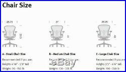 Herman Miller Aeron Chair Replacement SEAT PAN Graphite C 1 Reinforced #CPAN