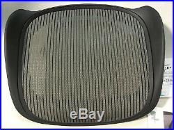 Herman Miller Aeron Chair Seat Pan Frame 3D16 Graphite Medium Size B Pyrite Mesh