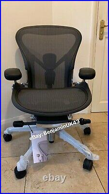 Herman Miller Aeron Chair Size A (SMALL) Polished Aluminium Remastered 2021